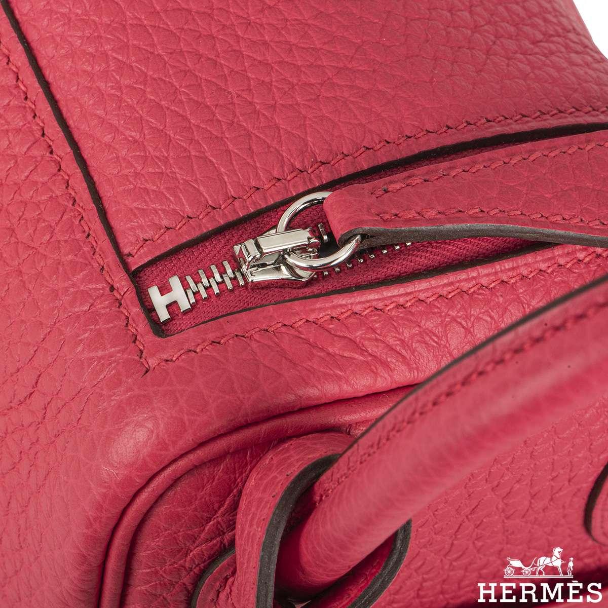 Hermès Mini Lindy Clemence Rose Extreme PHW